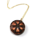 Bold Sunrise Mandala Necklace - Gold