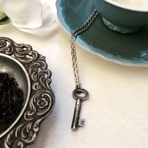 Tea Chest Key Necklace - SILVER