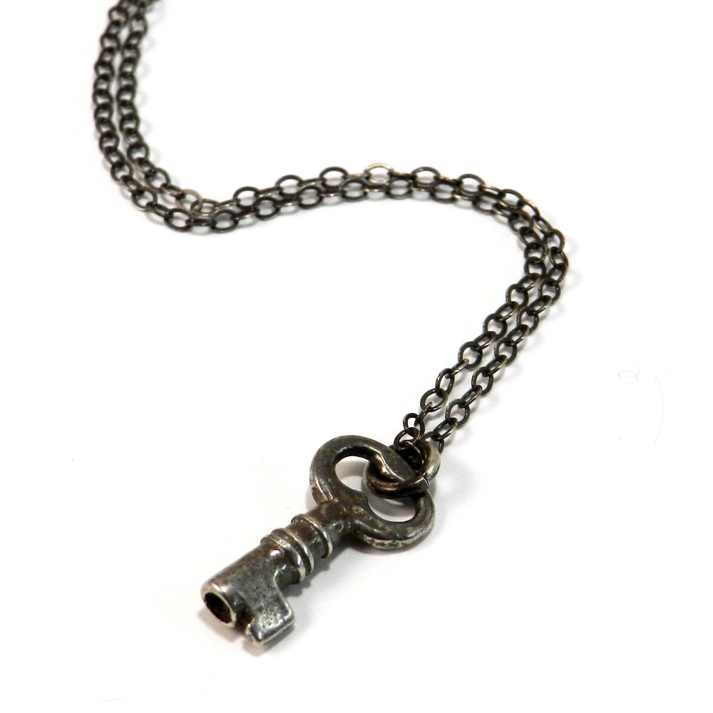 Treasure Box Key Necklace - SILVER