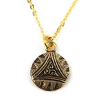 TRIAD Vintage Button Necklace - GOLD