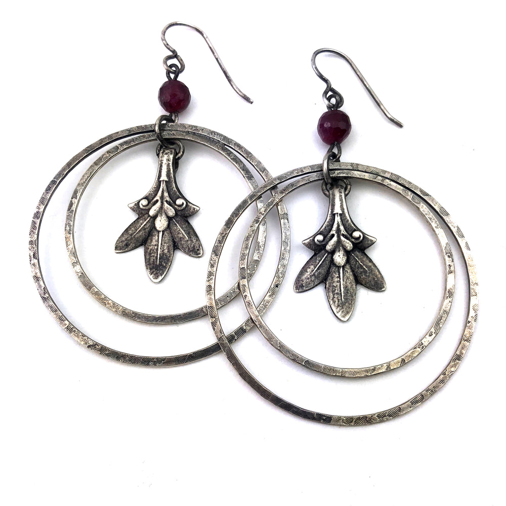 Trillium Echo Statement Earring - Silver