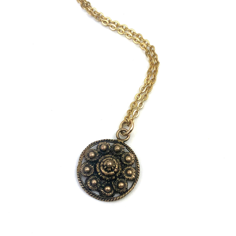 Zeeuwse Knop Dutch Button Necklace - GOLD