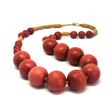 Load image into Gallery viewer, SLJ Don't Make Me Blush Necklace Wooden Beads Bohemian Island Classic Handmade Natural Spiritual Travel Resort Boho Chic Collection