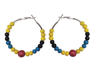 SLJ Antigua Barbuda Earring Hoops Jewelry Celebrate Caribbean Culture Festival Heritage Pride Collection Carnival Accessories