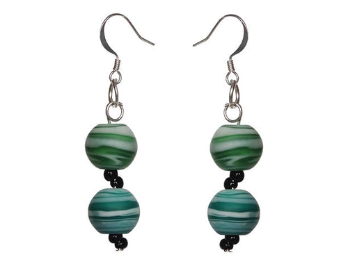 Aqua Glass Earrings - Sasha L JEWELS LLC