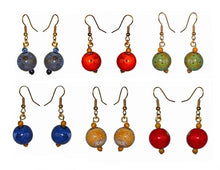 Load image into Gallery viewer, Glass Ornament Earrings
