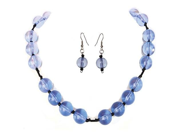 Berry Blue Drops Jewelry Set - Sasha L JEWELS LLC