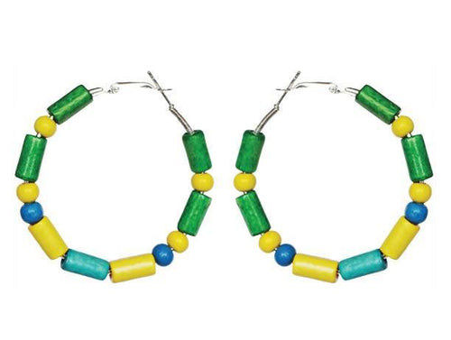 Brazil Brazilian SLJ Earring Hoops Jewelry Celebrate Caribbean Culture Festival Heritage Pride Collection Carnival Accessories South American Latin America