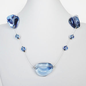 SLJ Bubble Burst Necklace Blue Handmade Urban Street Fashion Pop Jewelry Travel Jewelry Urban Chic Retro Collection