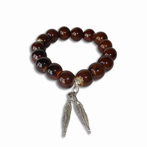 Tiger's Eye Charm Bangle - Sasha L JEWELS LLC