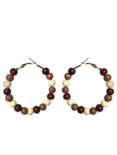 Cocoa Mix Earring Hoops - Sasha L JEWELS LLC