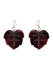 Cocoa Leaf Earrings - Sasha L JEWELS LLC