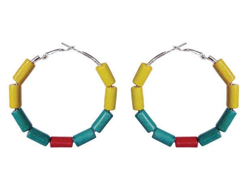 SLJ Colombia Colombian Earring Hoops Jewelry Celebrate Caribbean Culture Festival Heritage Pride Collection Carnival Accessories South America Latin America