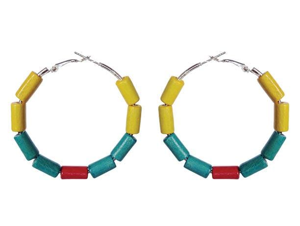 Colombia Earring Hoops - Sasha L JEWELS LLC