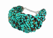 Load image into Gallery viewer, Turquoise Threaded Cuff - Sasha L JEWELS LLC