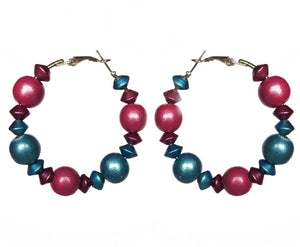 Cotton Candy Metallic Hoop Earrings - Sasha L JEWELS LLC