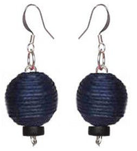 Load image into Gallery viewer, Pom Boho Chic Earrings (Navy Blue) - Sasha L JEWELS LLC