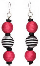 Load image into Gallery viewer, Pom Boho Chic Earrings (Stripe Variations)