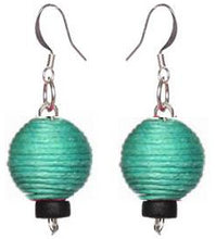 Load image into Gallery viewer, Pom Boho Chic Earrings (Teal Green)