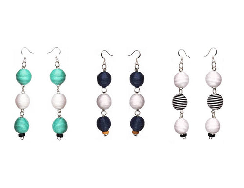 Pom Boho Chic Earrings (Triple Variations) - Sasha L JEWELS LLC