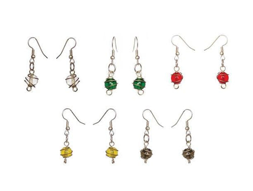 Dancing Spiral Glass Stunner Earrings - Single - Sasha L JEWELS LLC