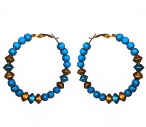 Designer Beaded Hoops