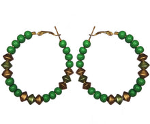 Load image into Gallery viewer, Designer Beaded Hoops