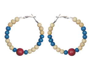 Dominican Republic (DR) Earring Hoops - Sasha L JEWELS LLC