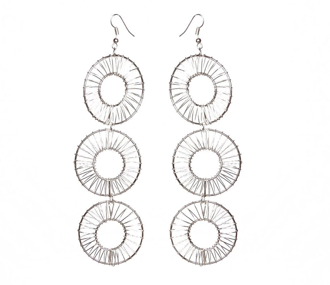 Donut Wire Earrings - Triple - Sasha L JEWELS LLC