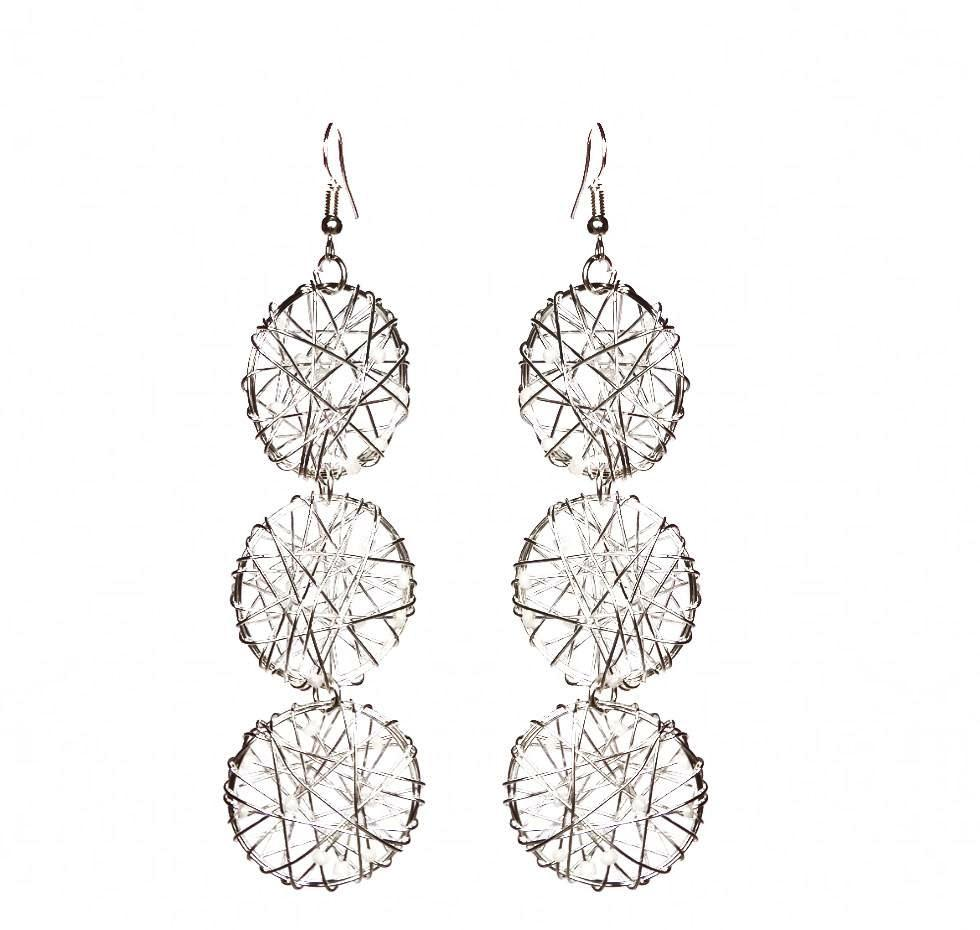 Embellish Wire Earrings - Triple - Sasha L JEWELS LLC