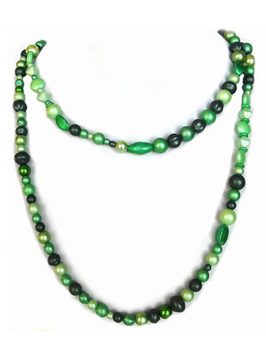 Emerald Pearl Rope Necklace - Sasha L JEWELS LLC