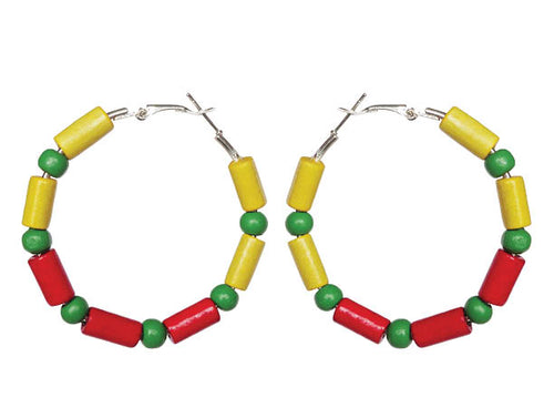 SLJ Ethiopia Ethiopian Earring Hoops Jewelry Celebrate Caribbean Culture Festival Heritage Pride Collection Carnival Accessories Africa African Fashion