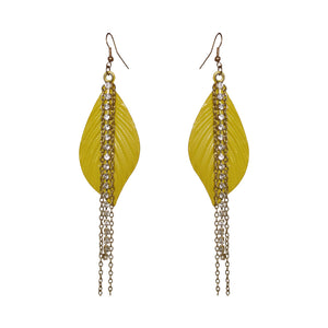 Bling Leaf Earrings - Sasha L JEWELS LLC