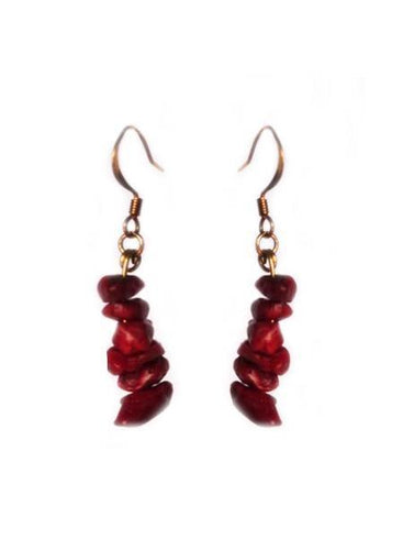 Infused Fire Coral Earrings - Sasha L JEWELS LLC