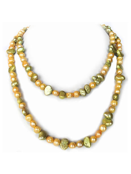 Frosted Cascade Pearl Rope Necklace - Sasha L JEWELS LLC