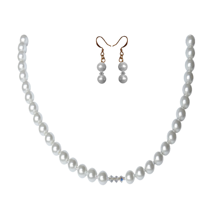 Frosted Crystal Pearl Set - Sasha L JEWELS LLC