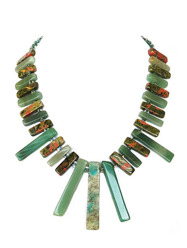 Evergreen Fountain Necklace - Sasha L JEWELS LLC