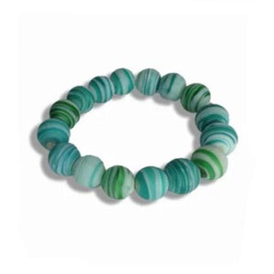 Aqua Glass Bangle - Sasha L JEWELS LLC