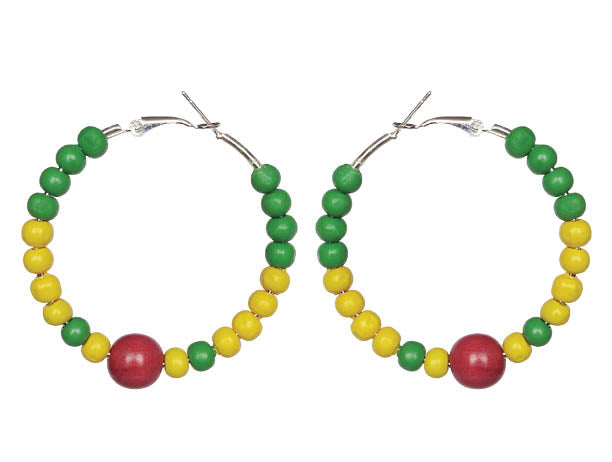 SLJ Grenada Grenadian Earring Hoops Jewelry Celebrate Caribbean Culture Festival Heritage Pride Collection Carnival Accessories West Indies