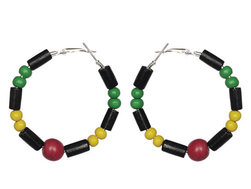 SLJ Guyana Guyanese Earring Hoops Jewelry Celebrate Caribbean Culture Festival Heritage Pride Collection Carnival Accessories West Indies