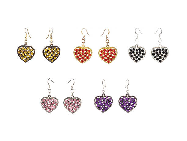 Heart Charm Earrings - Sasha L JEWELS LLC