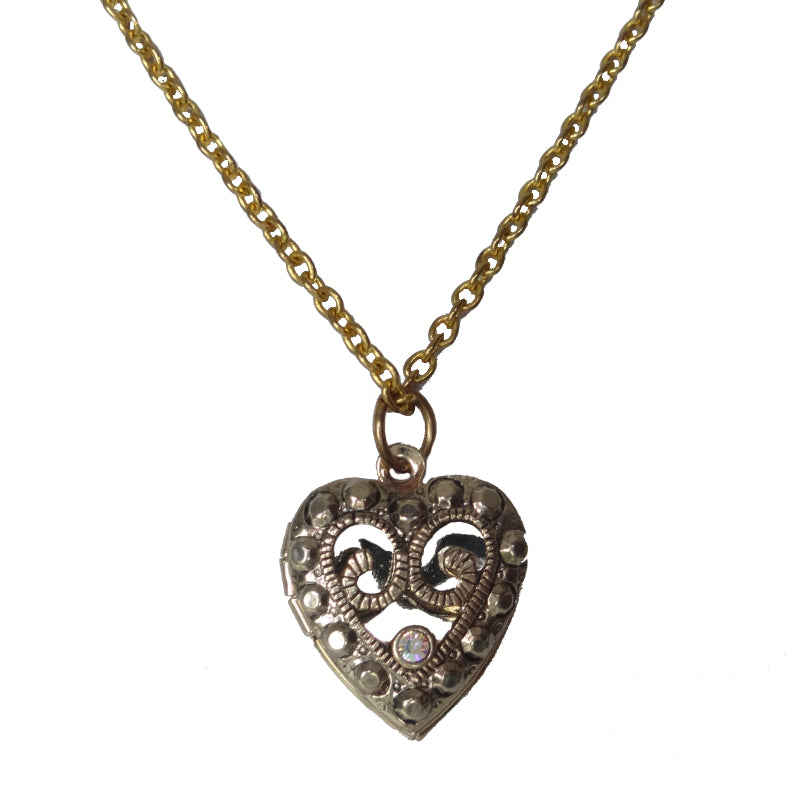 Heart Swarovski Locket - Sasha L JEWELS LLC