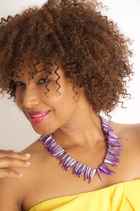 Purple Shell Dynasty Necklace - Sasha L JEWELS LLC
