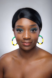 Jamaica Earring Hoops - Sasha L JEWELS LLC