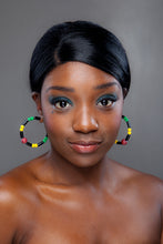 Load image into Gallery viewer, SLJ Guyana Guyanese Earring Hoops Jewelry Celebrate Caribbean Culture Festival Heritage Pride Collection Carnival Accessories West Indies