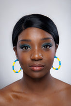 Load image into Gallery viewer, SLJ Barbados Bajan Barbadian Earring Hoops Jewelry Celebrate Caribbean Culture Festival Heritage Pride Collection Carnival Accessories