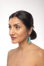 Load image into Gallery viewer, Turquoise Warrior Earrings - Triple - Sasha L JEWELS LLC