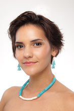 Load image into Gallery viewer, Turquoise Warrior Earrings - Double - Sasha L JEWELS LLC