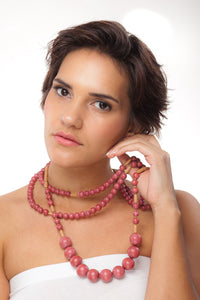 Triple Desert Blush Necklace - Sasha L JEWELS LLC