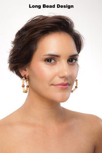 Cocoa Tribal Earring Hoops - Sasha L JEWELS LLC